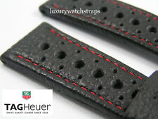 SUPERB PERFORATED SPORTS LEATHER STRAP FOR TAG HEUER / MONACO CARRERA & ALL 22MM