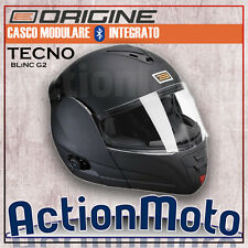 Casco Origen Modular Tecno Negro Mate Intercomunicador Interphone Bluetooth