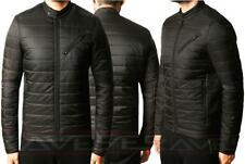 Mens Threadbare Padded Quilted Bomber Biker Jacket Coat Warm Winter MONGREL