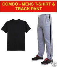 COMBO- Mens Round Neck Plain T-Shirt and Track Pant -100% Cotton