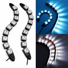 9 LED Flexible Auto Daytime Running Light Car DRL Fog Indicator Lamp