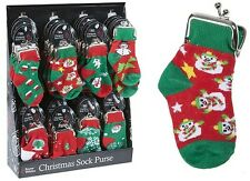 Novelty Christmas Sock Purse Cute Festive Xmas Gifts Perfect Stocking Filler New