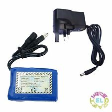 12V Rechargeable Li-ion Battery 1800mAH, 2800mAH or 5000mAH for EL Driver or LED