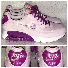 fbd9fbe3bd Customised Lilac Pink Crystal Nike Air Max Trainers Made With SWAROVSKI  ELEMENTS
