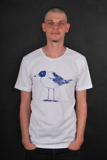 CLEPTOMANICX SCOOP NECK TEE LONELY GULL WHITE T-SHIRT
