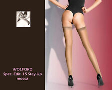 WOLFORD Spec. Edit. 15 Stay-Up • mocca •  ... hochtransparente Stay Up / Straps.