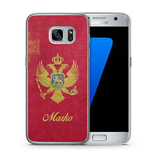 Samsung Galaxy Hülle Cover Case Montenegro + Name selbst gestalten Individuell