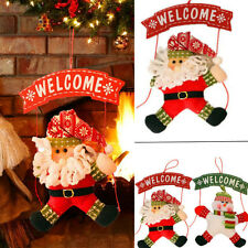 Christmas Tree Door Santa Claus Snowman Hanging Pendant Ornament Xmas Decor Gift