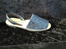 Avarcas-  womens - sandals- glitter- leather - Blue  - sizes 2 to 8