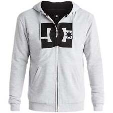 DC Mens Rebel Star Sherpa Hoodie - Men's Zip-up Hoodie in Heather Grey