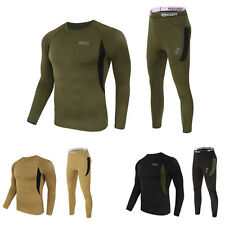 Herren Thermounterwäsche Lange Unterhose Top Warm Winter T-shirt Lange Hose Sets