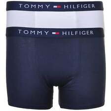 Tommy Hilfiger Boy's 2 Pack Icon Cotton Stretch Boxer Brief / Trunk, White+Navy