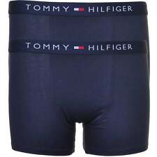 Tommy Hilfiger Boys 2 Pack Icon Cotton Stretch Boxer Brief, Trunk, All Navy Blue