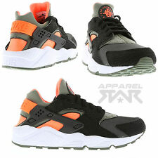 LIMITED EDITION Nike Air Huarache Black Hyper Crimson Orange White Mens Sneakers