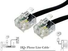 RJ11 to RJ11 Gold Plated ADSL BT Broadband Modem Internet Router Fax Cable Black