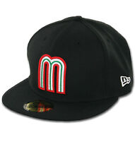 New Era 59FIFTY Hat World Baseball Classic Mexico Black 5950 Fitted Cap
