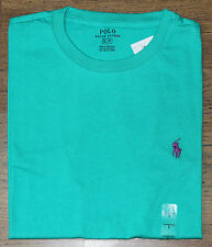 BNWT MENS POLO RALPH LAUREN PONY CREW NECK GREEN CLASSIC FIT T-SHIRT SIZE: S M L