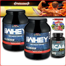 ENERVIT GYMLINE MUSCLE BCAA 120/300c + 100% WHEY PROTEIN 700g proteine concentr.