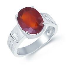 Garnet Gomed Silver Certified Gemstone Silver Ring 92.5 sterling Silver