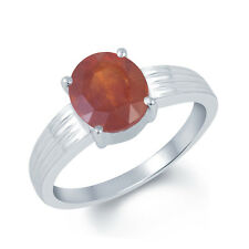 Garnet Gomed Silver Certified Gemstone Ring 92.5 Sterling Silver