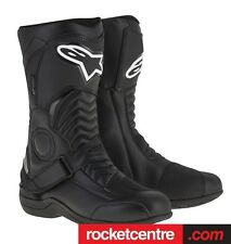 ALPINESTARS PIKES WATERPROOF DRYSTAR MOTORCYCLE BOOTS BLACK NEW WP SPORTY