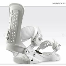 UNION FORCE WHITE ATTACCHI FW 2017 M L NEW BINDINGS SNOWBOARD