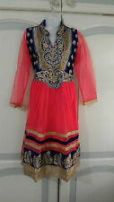 Fancy Dress Bollywood Indian Asian Anarkali Churidar salwar kameez  Girls Suit