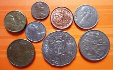Old Circulated Coins from Australia (One cent to $2)