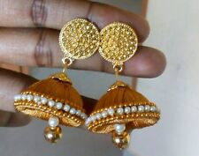 Set of 1  Unique pairs of cute silk thread earrings/ Jhumkas(1)/quilling earings