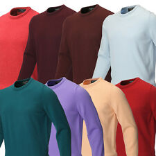Glenmuir Mens Crew Neck Lambswool Golf Sweater Sports Jumper Sweater 28% OFF RRP
