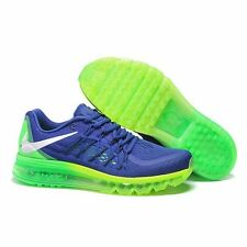 Branded Export Nike Sports  Flyknit Max Blue Green breathe shoes For Men