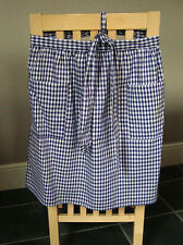 CHILDRENS BLUE AND WHITE GINGHAM DESIGN HALF APRON / PINNY  NO. 3