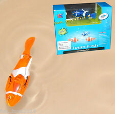 Battery Operated Remote Radio Control Clown Fish Toy Work in Water, Toy For Kids