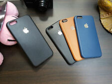 Luxury Leather Look Rubberized Back Case Cover For Apple iPhone 5S/ 5
