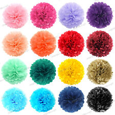 Pack of 6 Tissue Paper Pompoms Pom Poms Flower Balls Wedding Party Decoration