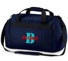 Personalised INITIAL LETTER & NAME Sports Holdall Bag Travel Named Gift