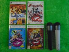 xbox 360 LIPS GAMES + 2 WIRELESS MICROPHONES - make your selection