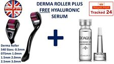 NEW 540 Derma Roller 0.25mm-3mm FREE Hyaluronic Serum Acne Ageing Spots Scars