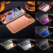 Mirror Tempered Glass Front+Back Screen Protector Film For iphone 5 6 6S Plus SE