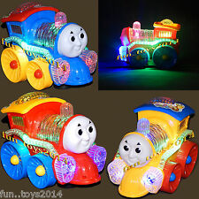 New Style Funny loco Train Engine IC Sound Bump And Go Flash Top light, Kids Toy