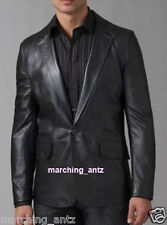 New Soft Genuine Leather Lambskin Motorcycle Biker Jacket Blazer Bomber Coat 402