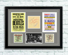 The Beatles Concert Poster, Autographs and Tickets Memorabilia Poster 1960's