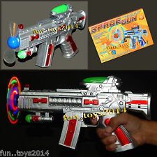 Battery Operated Flashing light and Sound Space Machine Gun Toy For kids Boy