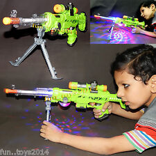Battery Operated Super Machine Gun Awesome Lighted Toy With Stand Gift For Kids