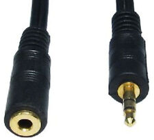 3.5mm Jack Extension Cable Stereo Plug to Socket AUX Headphone GOLD 1m 2m 3m 5m