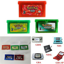 Game Bundle FireRed Sapphire Leaf Green Ruby Emerald Game Boy Advance Pokemon 5