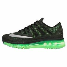 Branded Export Surplus Sports Nike Airmax Black Green 2017 breathe shoes For Men