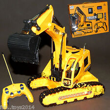 Battery Operated Remote Control Rechargeable Loader Truck JCB toy For Kids boys