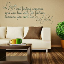 LOVE FINDING SOMEONE decal wall art sticker quote transfer graphic DAQ14