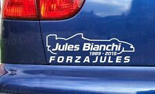 Jules Bianchi RIP Memorial Tribute Custom Car Window Bumper Stickers Decal ref:2